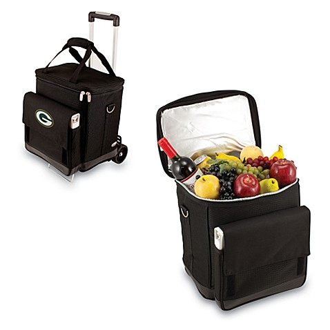 Picnic Time® Cellar with Trolley Insulated Cooler in Green Bay Packers