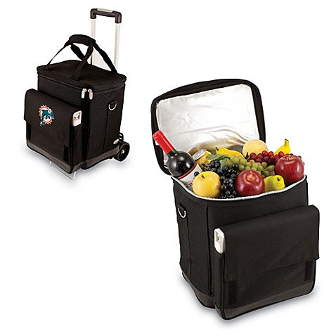 Picnic Time® Cellar with Trolley Insulated Cooler in Miami Dolphins