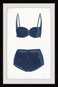 Marmont Hill Navy Bikini 8-Inch x 12-Inch Framed Wall Art
