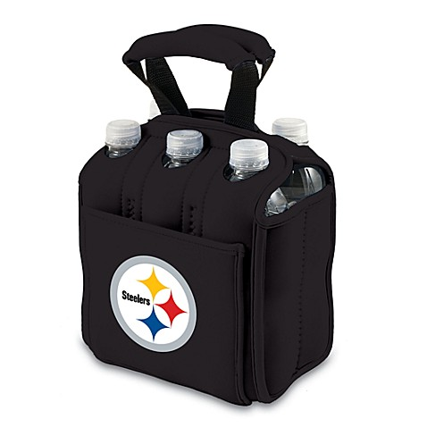 Picnic Time® Pittsburgh Steelers Six Pack Beverage Carrier in Black