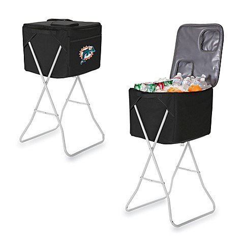 Picnic Time® Miami Dolphins Party Cube Portable Cooler with Stand in Black