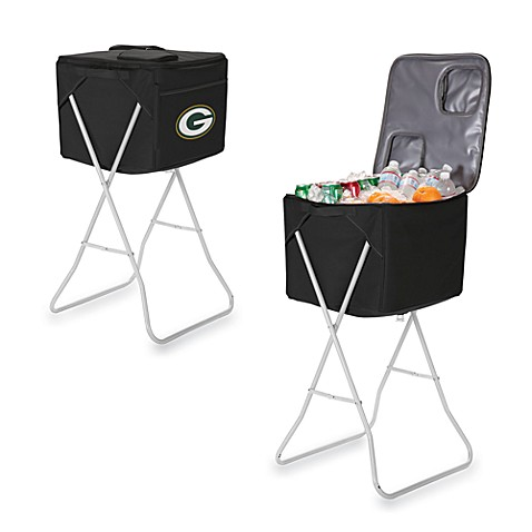 Picnic Time® Green Bay Packers Party Cube Portable Cooler with Stand in Black