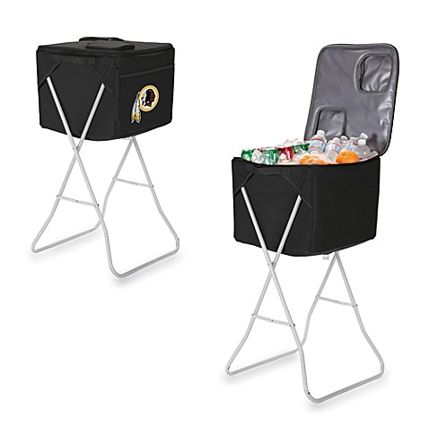 Picnic Time® Washington Redskins Party Cube Portable Cooler with Stand in Black