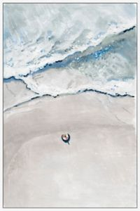 Marmont Hill Somewhere at the Beach 24-Inch x 36-Inch Framed Wall Art