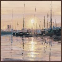 Marmont Hill Eminent Sunset 18-Inch Square Floater Frame Canvas Wall Art
