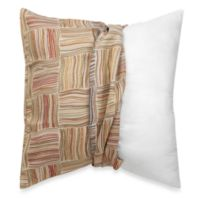 Make-Your-Own-Pillow Flourish Square Throw Pillow Cover in Brown