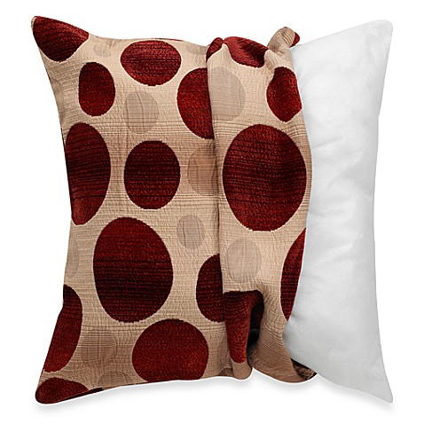 make-your-own-pillow ombre circles square throw pillow cover in red Make Your Own Throw Pillow Covers