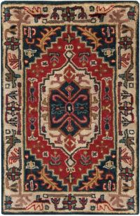 Surya Ancient Treasures Traditional 2' x 3' Accent Rug in Red/Blue