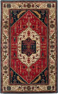 Surya Ancient Treasures Traditional 5' x 8' Area Rug in Red/Blue