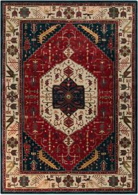 Surya Ancient Treasures Traditional 8' x 11' Area Rug in Red/Blue