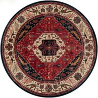 Surya Ancient Treasures Traditional 8' Round Rug in Red/Blue