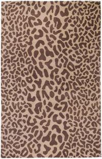 Surya Athena Animal Print 4' x 6' Area Rug in Brown