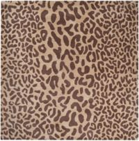 Surya Athena Animal Print 4' Square Accent Rug in Brown