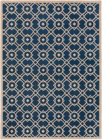 Surya Goa Geometric 8' x 11' Area Rug in Blue/Neutral