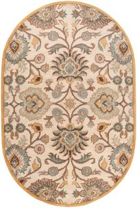 Surya Caesar Classic Hand Tufted 6' x 9' Oval Area Rug in Grey/Beige