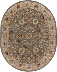 Surya Caesar 8' x 10' Handcrafted Oval Area Rug in Charcoal/Beige