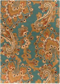 Surya Sea Floral 8' x 11' Hand Tufted Area Rug in Blue/Brown