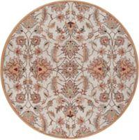Surya Caesar 4' Hand-Tufted Round Area Rug in Pink/Brown