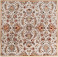 Surya Caesar 4' Hand-Tufted Square Area Rug in Pink/Brown