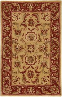 Surya Ancient Treasures Classic 2' x' 3 Accent Rug in Red/Gold