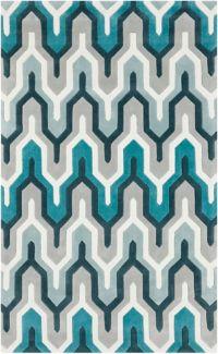 Surya Cosmopolitan 3'6 x 5'6 Hand Tufted Area Rug in Teal/Grey