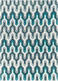 Surya Cosmopolitan 8' x 11' Hand Tufted Area Rug in Teal/Grey