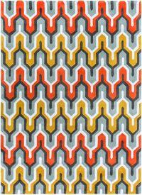 Surya Cosmopolitan 8' x 11' Hand Tufted Area Rug in Green/Orange