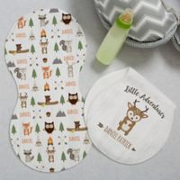 Woodland Adventure Deer Burp Cloths (Set of 2)
