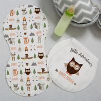 Woodland Adventure Owl Burp Cloths (Set of 2)