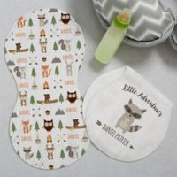 Woodland Adventure Raccoon Burp Cloths (Set of 2)