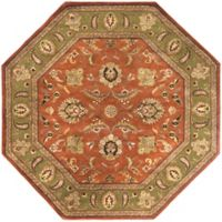 Surya Crowne 8' Hand Tufted Octagon Area Rug in Brown