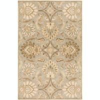 Surya Caesar Vintage Floral 6' x 9' Area Rug in Grey/Green