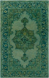 Surya Mykonos 5' x 8' Hand-Tufted Area Rug in Green
