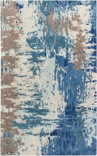 Surya Banshee Modern Hand-Tufted 3'3 x 5'3 Area Rug in Blue/Grey