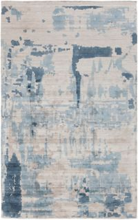 Surya Silence 4' x 6' Hand-Loomed Area Rug in Grey