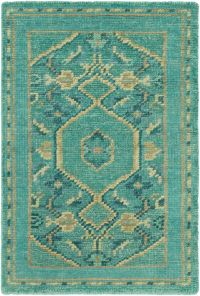 Surya Haven 2' x 3' Hand-Knotted Area Rug in Green/Blue