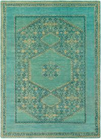Surya Haven 8' x 11' Hand-Knotted Area Rug in Green/Blue