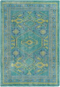 Surya Zahra Classic 2' x 3' Accent Rug in Blue/Green