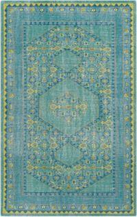 Surya Zahra Classic 3'6 x 5'6 Area Rug in Blue/Green