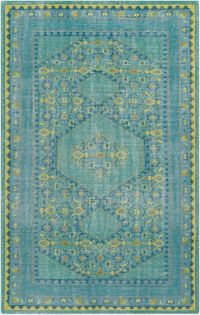 Surya Zahra Classic 5'6 x 8'6 Area Rug in Blue/Green