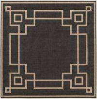 Surya Alfresco Woven 8'9 Square Area Rug in Black/Brown