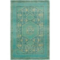 Surya Haven 9' x 13' Hand-Knotted Area Rug in Green/Blue