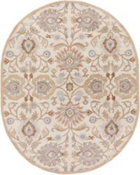 Surya Caesar Classic Oval 8' x 10' Area Rug in Cream/Camel