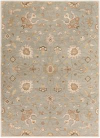 Surya Caesar Vintage Ivy 8' x 11' Area Rug in Grey/Wheat