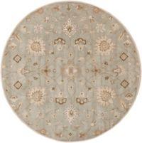 Surya Caesar Vintage Ivy 8' Round Area Rug in Grey/Wheat