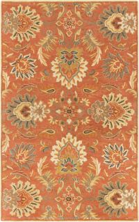 Surya Ceasar Classic 9' x 12' Area Rug in Orange/Sage