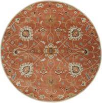Surya Caesar Vintage Ivy 8' Round Area Rug in Rust/Camel
