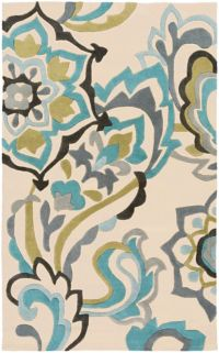 Surya Cosmopolitan Floral 2' x 3' Accent Rug in Blue
