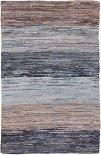 Surya Global 3'6 x 5'6 Hand-Loomed Area Rug in Denim Blue/Brown