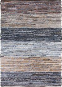 Surya Global 8' x 11' Hand-Loomed Area Rug in Denim Blue/Brown